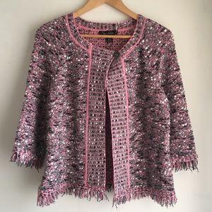 St. John Pink Boucle Jacket Size 4 NWT